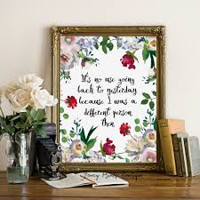 alice in wonderland wall art quote its no use going back to on alice wonderland wall art with alice in wonderland wall art quote its no use going back to super tech