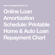 Auto Loan Amortization Schedules Online Loan Amortization Schedule Printable Home Auto