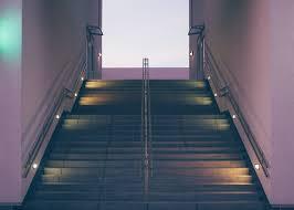 steps lighting. Light Architecture Sunlight Skyscraper Steps Dark Dusk Line Reflection Color Blue Lighting Lights Stairs Rails Symmetry N