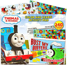 Education about color and imagine to train. Amazon Com Thomas The Train Coloring Book Giant 13 X 16 Coloring And Learning Activity Pad With Thomas And Friends Stickers For Kids Toddlers Thomas The Train Toys Toys Games