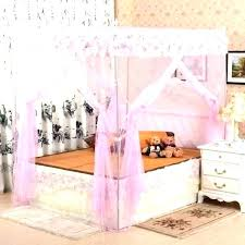 Girl Princess Canopy Toddler Bed Disney Plastic With Bedroom Little ...
