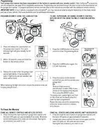sears garage door opener manual