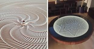 sisyphus mesmerizing kinetic sand drawing tables by bruce shapiro bored panda