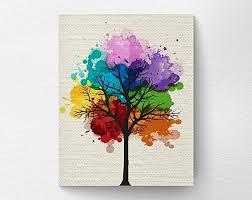 Small Picture Amazoncom Chakra Rainbow Tree Wall Art Print Tree Nature Home