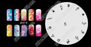 šablona Na Nehty Airbrush Nail Art Fengda Jfh01 005