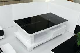 white and black coffee table minimalist white coffee table with storage white black glass coffee table