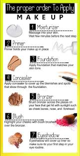 the proper order to apply makeup