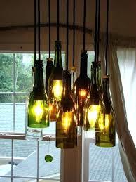 glass bottle chandelier wine bottle chandelier pottery