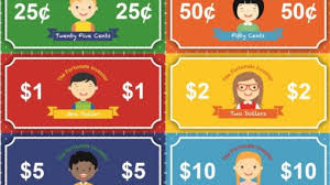 Money Chart For Kids Printable Teaching Children About Money Free Printable Chore Charts