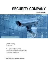 Corporate Business Plan Template Security Company Business Plan Template Word Pdf By