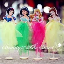 Belle Birthday Decorations 100pcs Princess Snow White Ariel Belle Cinderella Elsa Cupcake 67