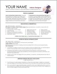 How To Make Resume One Resume Mesmerizing Interior Design Resume Template Interior Design Resume Template We