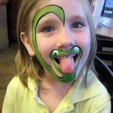 funny face paint ideas 30 cool face painting ideas for kids face paintings snake and face