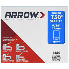 Arrow Staple Size Chart Arrow Staples T50 9 16 Tools Diy Fasteners Arrow