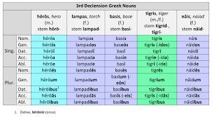Greek Declension Chart Pdf 3rd Declension Greek Nouns Dickinson College Commentaries