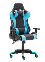 Light Blue Gaming Chair Shop Goldedge Video Gaming Fully Adjustable Pu Leather Chair