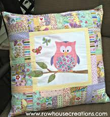 875 best OWL QUILTS images on Pinterest   Owl, Quilt patterns and ... & Zoe Owl Modern Log Cabin Quilt Block Pillow Adamdwight.com