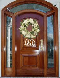 front door monogramPersonalized Front Door Initials Monogram Decal Sticker