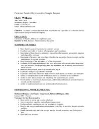 Objective For Resume Customer Serviceintableofile Examples Resumes