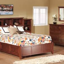 queen storage bedroom set. mckenzie cherry bookcase storage bedroom set queen