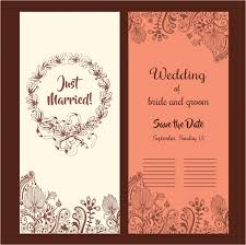 Wedding Card Design Wedding Card Design Classical Style With Flowers Free Vector In