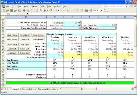 work scheduler excel shift scheduler continuous excel will build a roster allocate staff