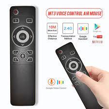 MT3 Chuột Thoại Điều Khiển Từ Xa 2.4G USB Thu Con Quay Hồi Chuyển Cảm Ứng  Thông Minh Không Dây Từ Xa Cho Android TV Box máy Tính Remote Controls