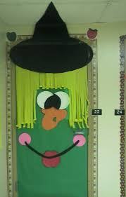 classroom door decorations for halloween. Witch Classroom Door Idea. Halloween DecorationsHalloween Decorations For