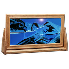 large cherry moving sand pictures ocean blue
