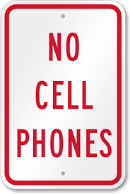 No Cell Phone Sign Printable Kisspng Telephone Call Pager Text