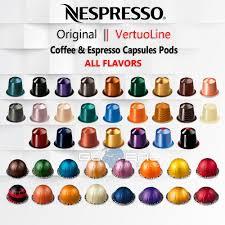 Details About Nespresso Original Vertuoline Capsules Pods