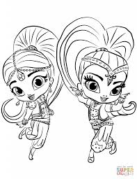 Shimmer Shine Coloring Pages 8771