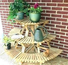 3 tier wooden plant stand 3 tier wooden plant stand plant pedestal stand outdoor plant pedestal