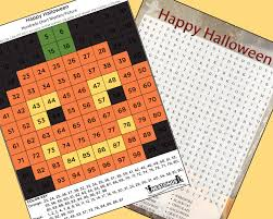 Color By Number Hundreds Chart Halloween Activities