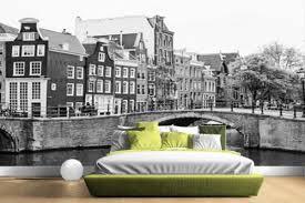 Bolcom Amsterdam Zwart Wit Fotobehang 380x265 Airtex Naadloos