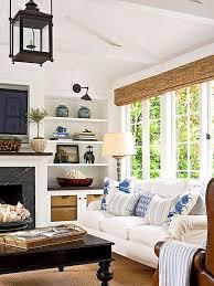blue white living room casual living room