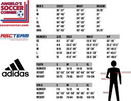 Adidas Tiro 13 Pants Size Chart Apparel Ordering With Angelos Soccer Corner