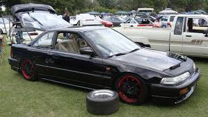 black acura integra jdm. rebarreled mugen cf48 on jdm da acura integra black jdm