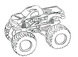 Free Monster Truck Coloring Pages Zombie Monster Truck Colouring