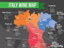 map of italian wine regions  wine folly