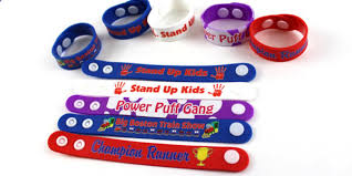 Custom Snap Together Silicone Thick Plastic Wristbands