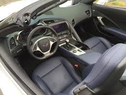 chevrolet corvette 2015 interior. our test car had a relatively subdued combo of silver exterior and blue leather interior chevrolet corvette 2015