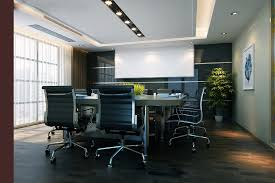 modern open plan interior office space. Small Space Design Ideas Home Decor Interior Elegant Office For Appealing Large Meeting Room With Brown Modern Open Plan