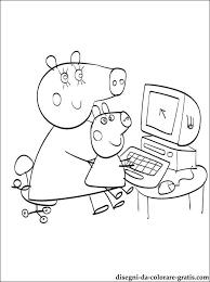 Peppa E George Il Computer Da Colorare Disegni Da Colorare Gratis