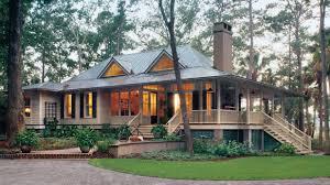 image of open concept cottage style house plans porch