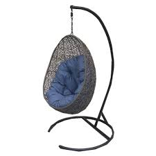 henryka cw4307hc hanging chair with cushion and stand lowe s canada way er at home