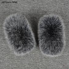 <b>Jancoco Max</b> Winter <b>2017</b> Women <b>Real</b> Fur Sleeve Cuffs Wrist Ring ...