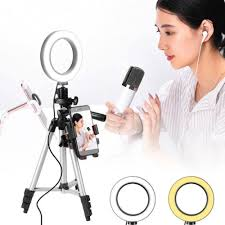 dels of wincoo 5 7 selfie ring light with tripod stand cell phone holder for live stream makeup mini led camera ringlight for you