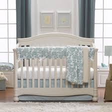 aqua blossoms fl crib bedding set turquoise fl crib bedding set teal fl baby