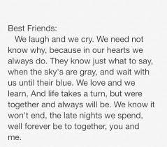 My best friend poem I wrote! For you guys I love you all | Best ... via Relatably.com